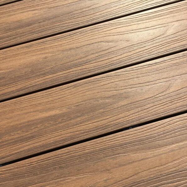 Composite Decking Board – Teak – Mixed Colour