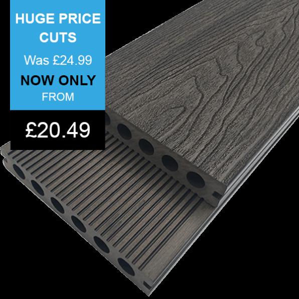 Chocolate Dark Brown Composite Decking Board