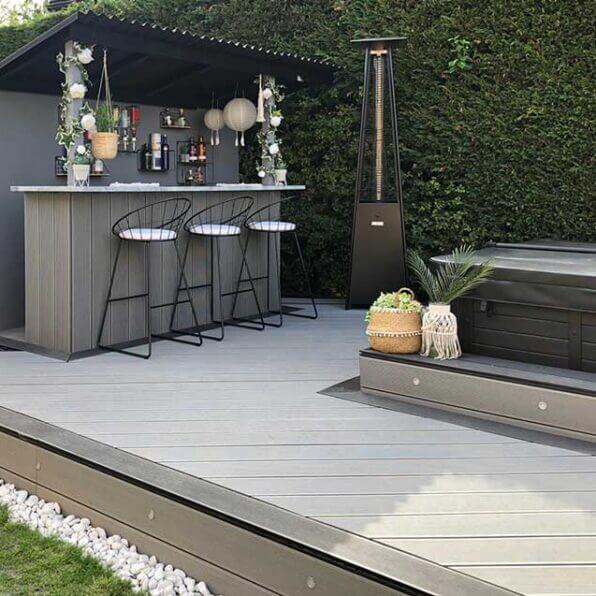 Grey Composite decking board | Only £4.52 per Metre