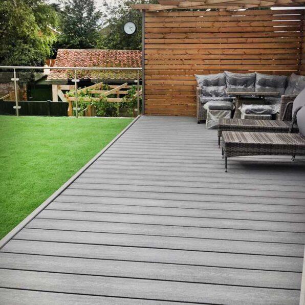 Premier Grey Composite Decking Board | Only £5.09 per Metre