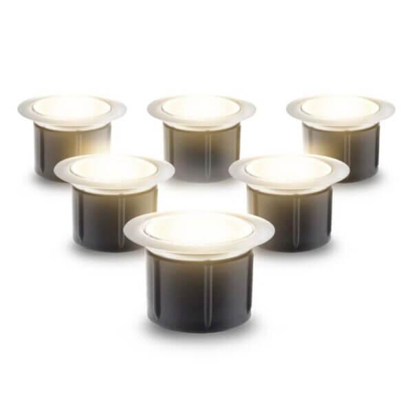 Decking Lights 40mm Warm White LED Lights