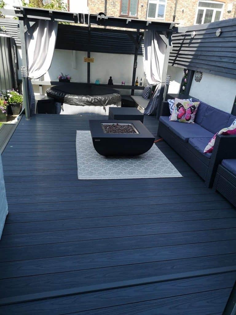 rug on decking