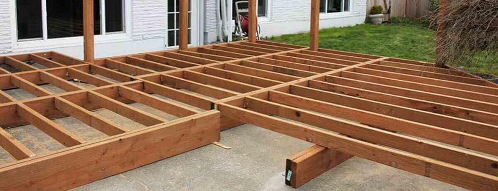 installing decking on concrete
