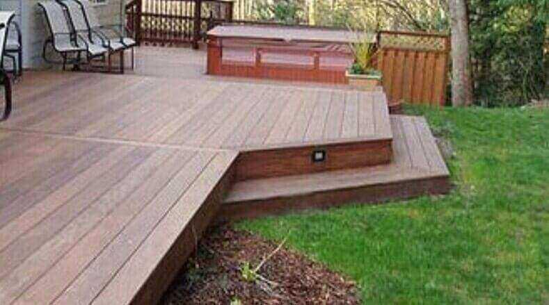 build a flush ground level deck