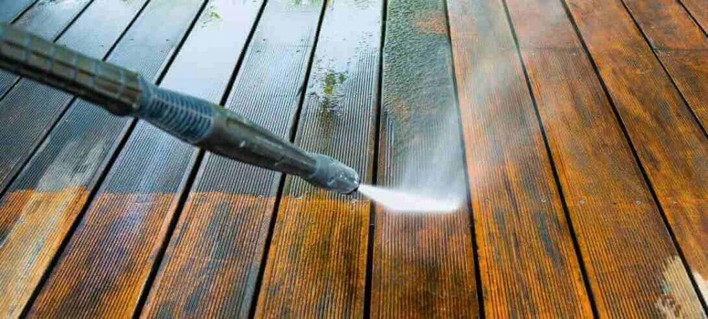 pressure washing decking