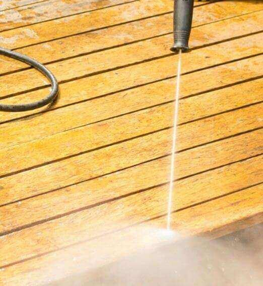 power wash decking