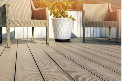 Outdoor Furniture on inviting composite deck