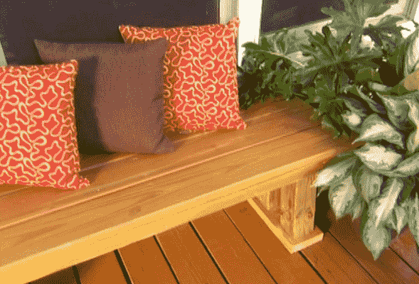 How to Make a Bench from Decking Boards
